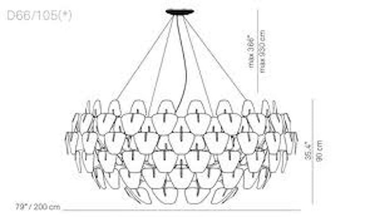Offerta di lampadario sospensione luceplan hope d66 110 a for Hope lampadario