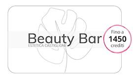 Beauty bar shopping card