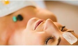 Massaggio viso cristalli