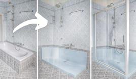 Cambio vasca con doccia