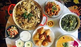 Menù indiano vegetariano