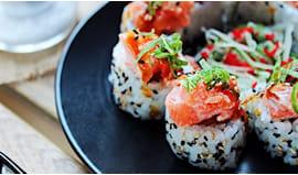 Traditional sushi corner