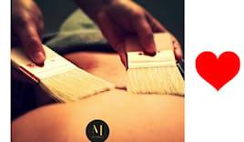 Massaggio con pennelli m