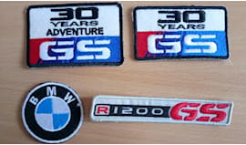 20 patch toppe ricamate