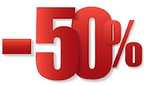 Sconto 50% su tutto!