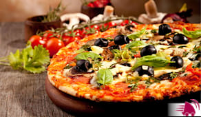 Pizza bere alette patate
