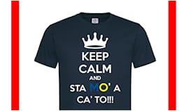 T-shirt beneficenza nera