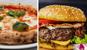 Pizza+hamburger domicilio
