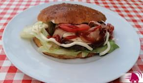 2 big panini hamburger
