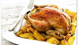Pollo patate e crocchette