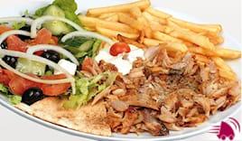 Kebab o falafel piatto