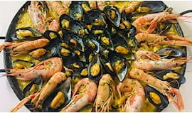 Paella di pesce+spumante