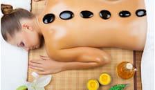 massaggio rilassante con pietre laviche -63%