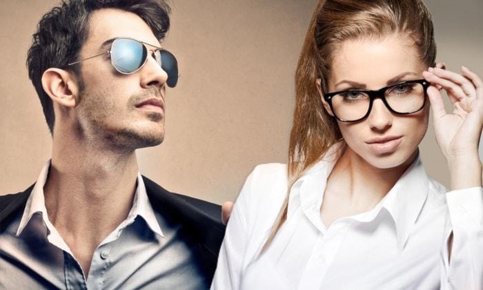 Buono sconto di 100 € a 4,90 € per occhiali da vista o vista/sole