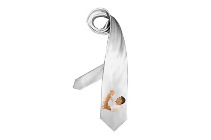Cravatta con stampa foto