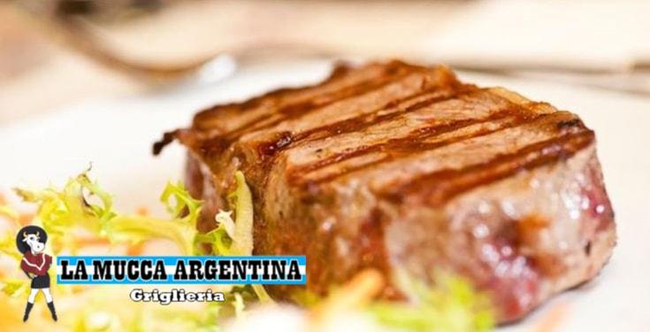 MENU DI COPPIA ALLA MUCCA ARGENTINA CON EMPANADAS, CONTROFILETTO 250 GR, CONTORNO, DOLCE, VINO, ACQUA, CAFFE' E LIQUORE