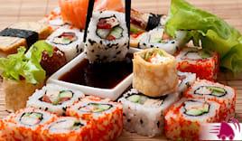 mix sushi 18pz + 2 primi
