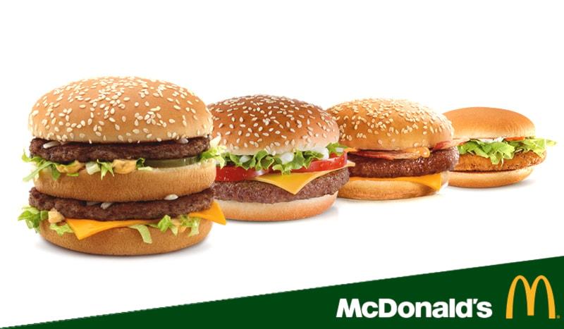 2 panini classic a 5.90€! (Crispy McBacon Chicken, Big Mac, McChicken, Crispy McBacon, Filet-O-Fish, Quarter Pounder Cheese o Quarter Pounder D)