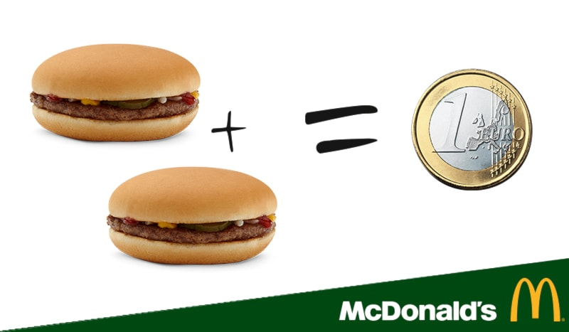 Hamburger McDonald's 2x1