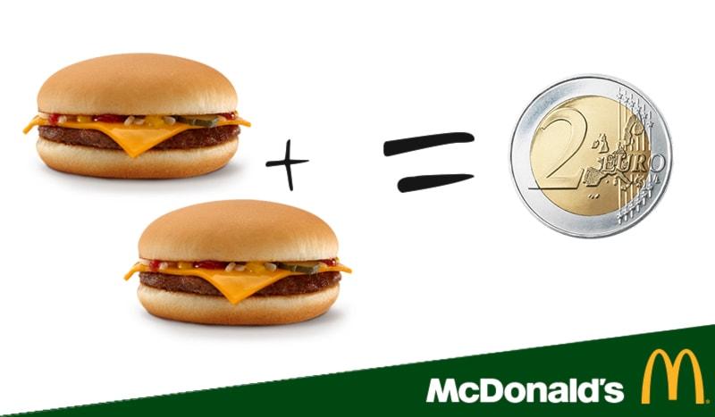 2 cheeseburger a 2€!