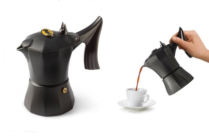Caffettiera batman 3 tazze macchina caffè moka accademia mugnano