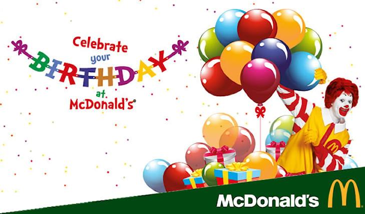 Offerta di compleanno al mcdonald's a Modena | Spiiky