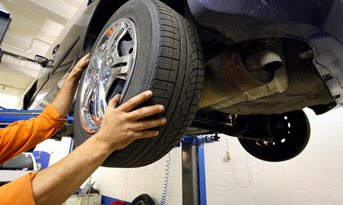 check-up + cambio gomme