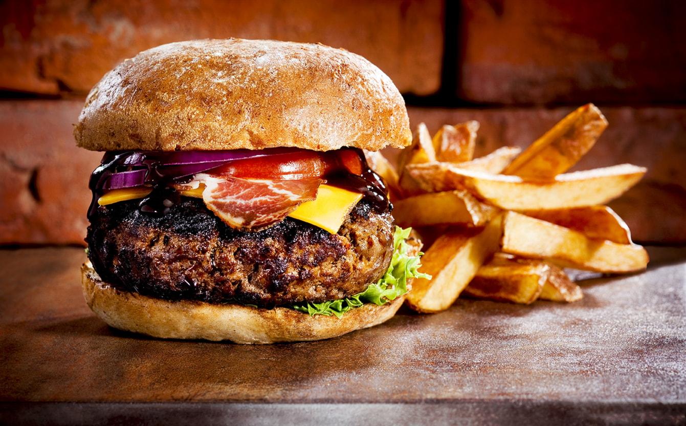 Hamburger patatine&bibita