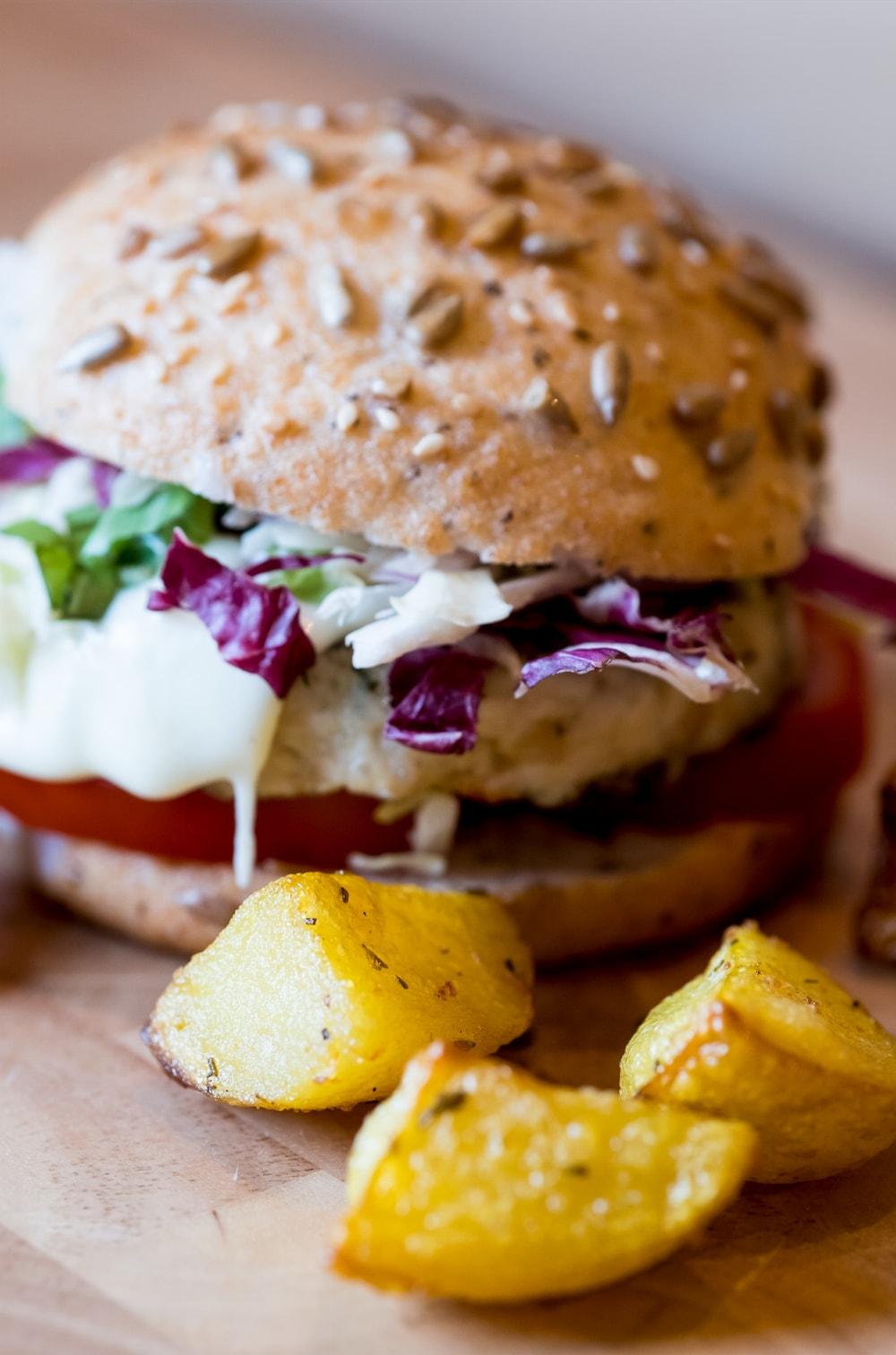 hamburger,patate e birra