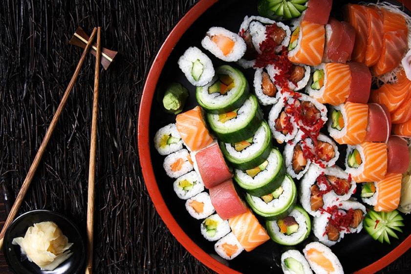 Sushi a domicilio (50pz)