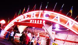 American circus tribuna