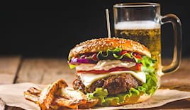 Menù hamburger red lion