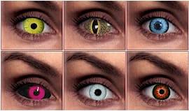 Coppia di lenti colorate