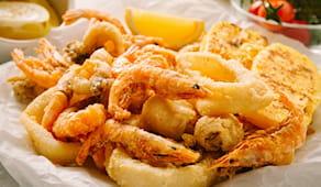 Lasagne+fritto pesce aspo
