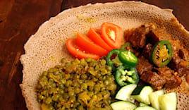 Menu etiope con vino