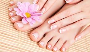 3 manicure + pedicure