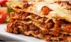 Porzione di lasagne