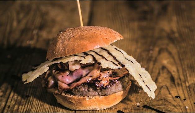 Menu hamburger gourmet