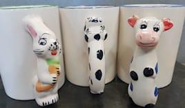 Tazza ceramica animali