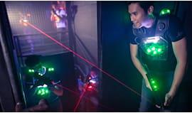 Omaggio lasergame di sera