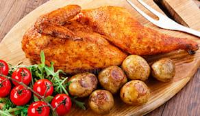 Mezzo pollo + patate