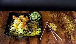 Spiedini gamberi + patate