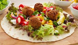Menù veggie falafel