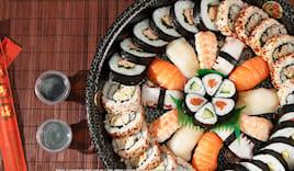 60 pezzi sushi e sashimi