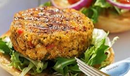 Menù hamburger veggie