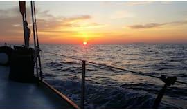 Omaggio alba in barca