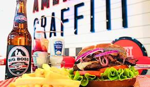 2 burger america graffiti