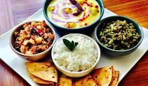 Pranzo indiano vegetarian