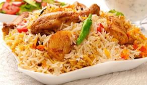 Pranzo indiano con riso