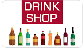 Drink shop shopping card